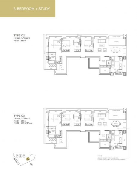 nouvel-18-floor-plan-3-bedroom-study-C2-C3