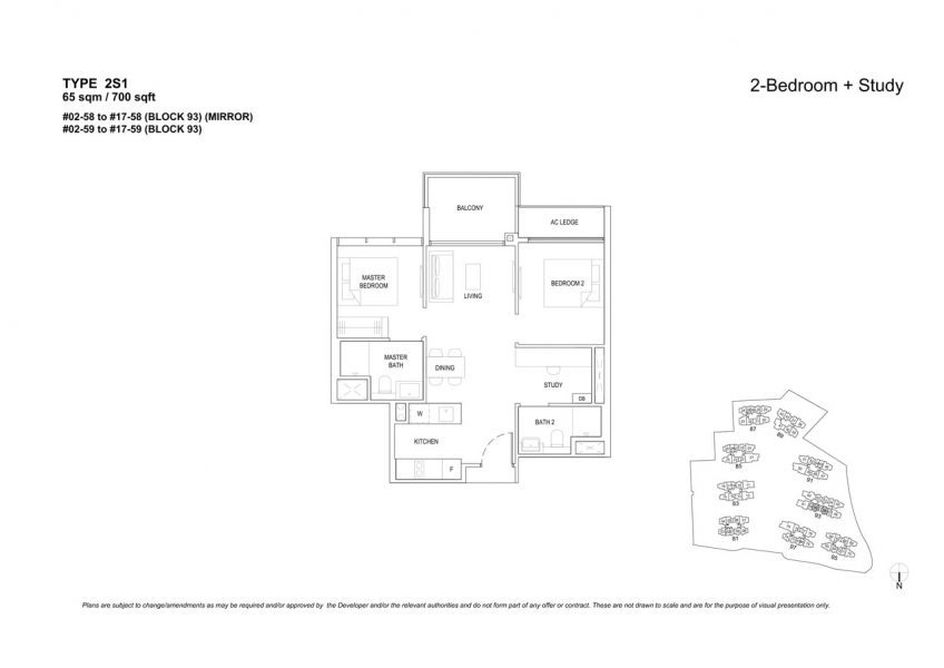 the-florence-residences-floor-plan-2-bedroom-study-2S1