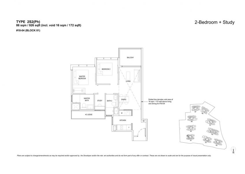 the-florence-residences-floor-plan-2-bedroom-study-2S2PH