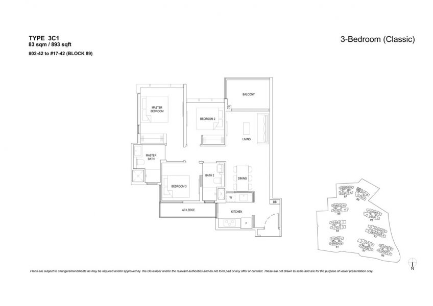 the-florence-residences-floor-plan-3-bedroom-3C1