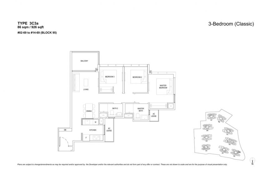 the-florence-residences-floor-plan-3-bedroom-3C3a